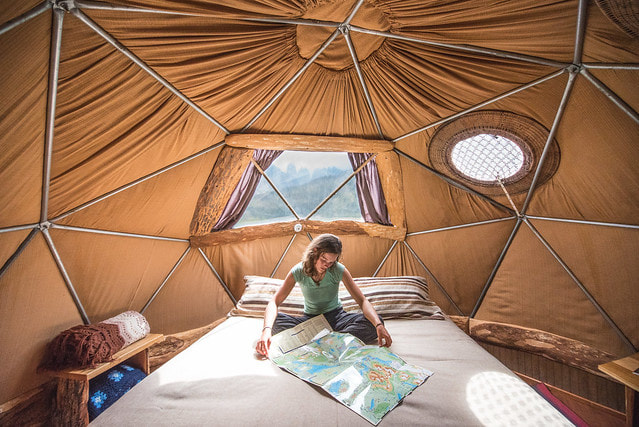 Standard dome at EcoCamp