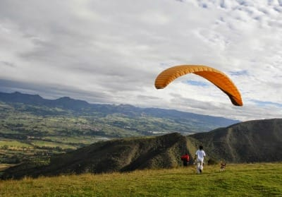 Paragliding at Suesca